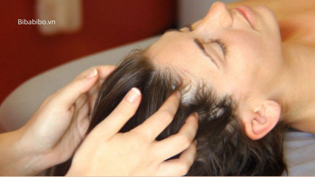 Massage thường xuyên cho da đầu